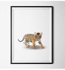 Tiger flower poster