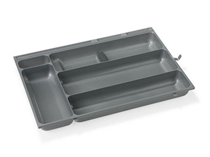 Aterinlaatikko 48,5x32,6x5 hopea