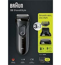 Braun Rakapparat Shave&Style 3000BT