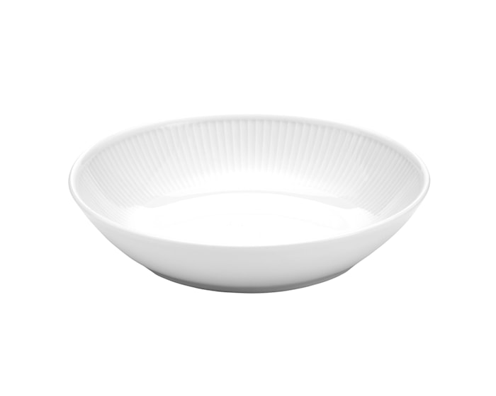 Plissé salaatti-/ pastalautanen 23 cm valkoinen