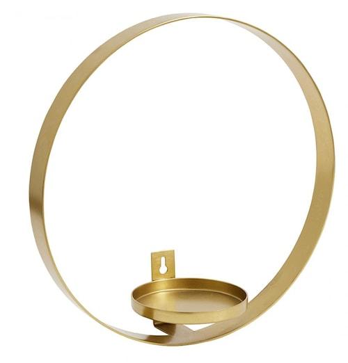 Väggljusstake Circle ø31 cm - Mässing