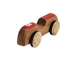 Car No. 8 Röd Återvunnen Teak 15 cm