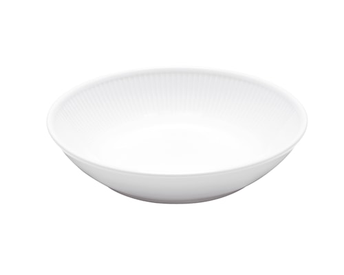 Plissé Sallad-/Pastatallrik 20 cm Vit