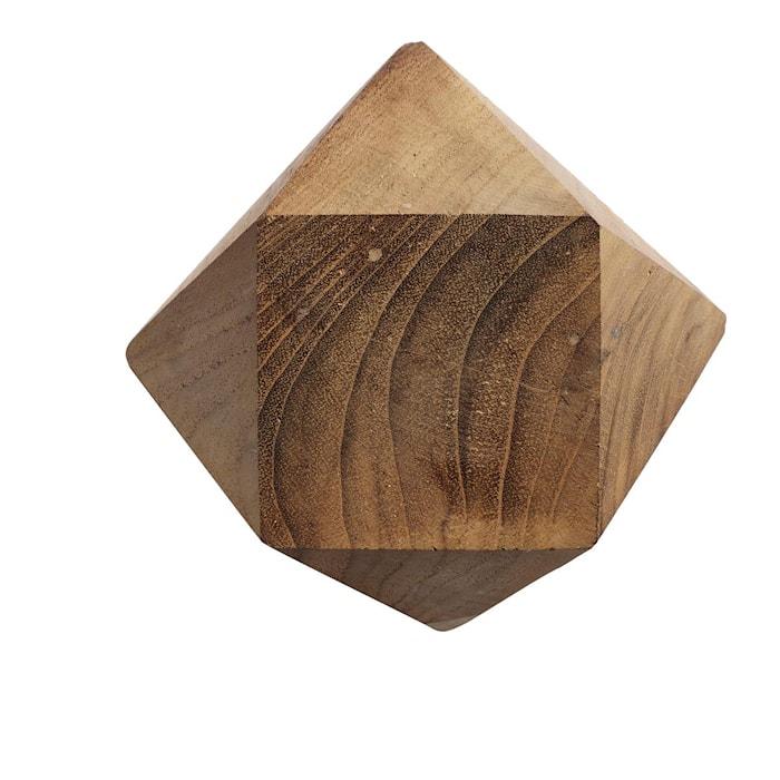 Knopp Diamant M Natur Återvunnen Teak 12,5x12,5 cm