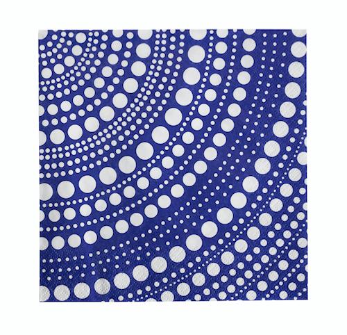 Kastehelmi papirserviett 33x33 cm ultramarin blå