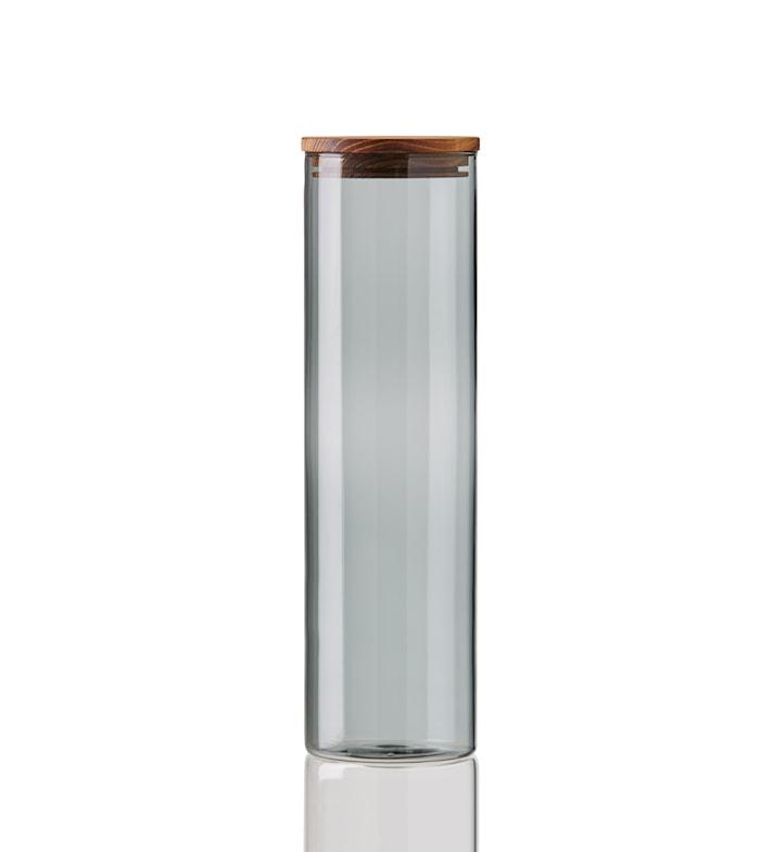 Raw Stor Förvaringsburk med Teak Lock D7,8 x H28 cm