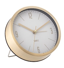 Table Clock Gold Aluminum