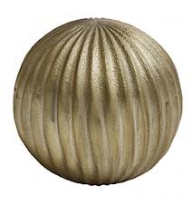 Deco ball, golden, lines