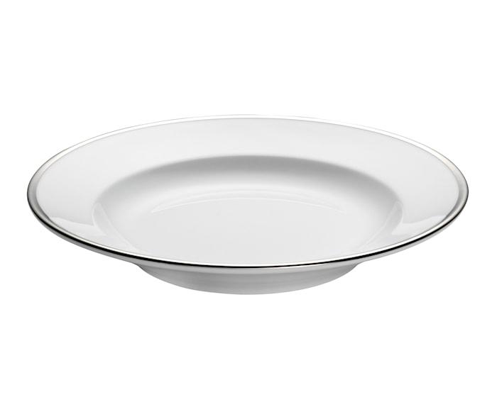 Bistro pastatallrik djup vit/silver