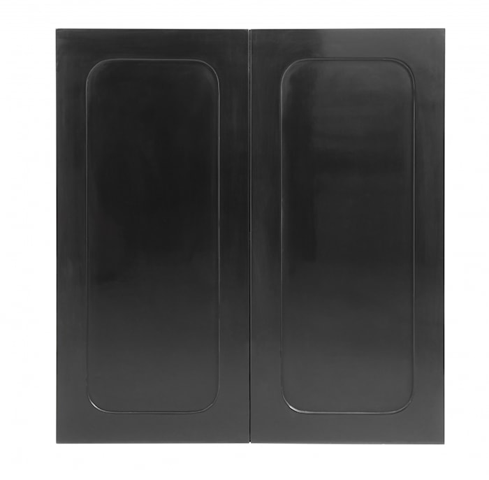 Væg skab, 2 dørs, shiny sort