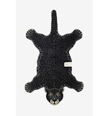 Ullmatta Leopard Svart 90x150 cm