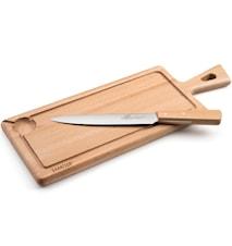 Kokkekniv og skjærebrett 2 deler