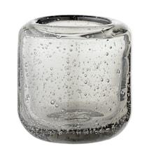 Värmeljushållare Grå Glas 7x7,5cm