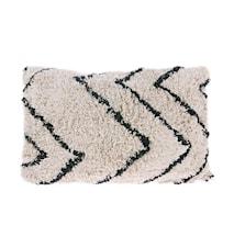 Tyyny Puuvilla Zigzag musta/valkoinen 40x60 cm