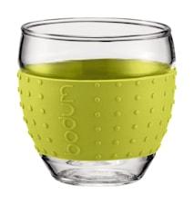 Pavina glass med silikon 10 cl 2 stk lime