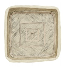 ART plate, square, paper maché, for wall