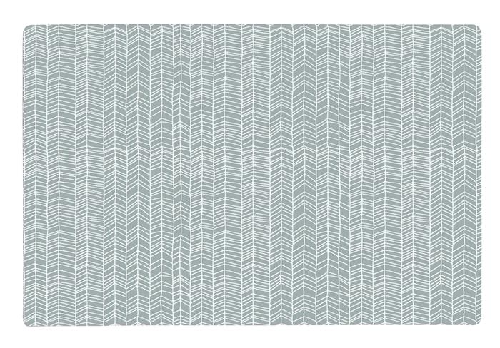 Dækkeserviet - Zentangle - PP - Grå - Hvid - L 44,0cm - B 28,5cm - Stk.