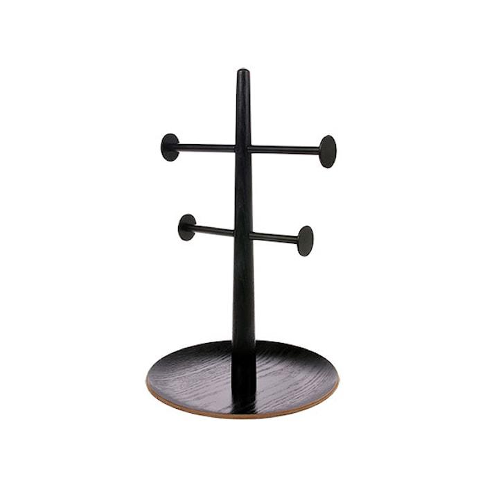 Smykkehenger Tre/Metall Svart