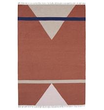 SHARP woven rug, terracotta/pink/beige
