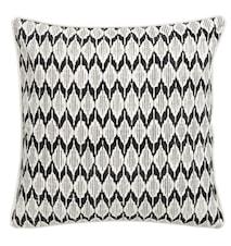 Tyynynpäällinen ikat kuvio 45x45 - Musta