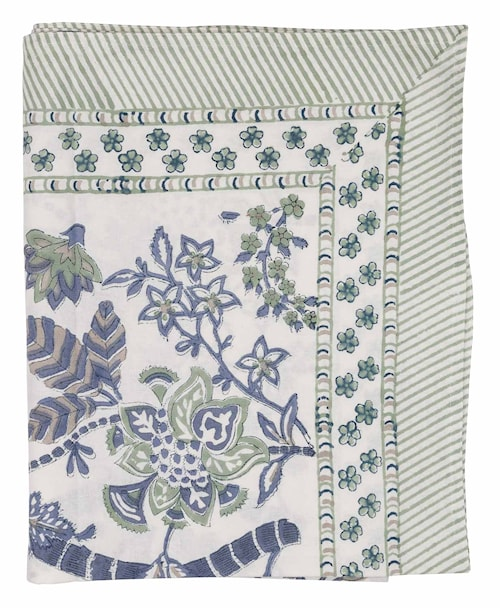 Pöytäliina Floral Sea Blue - 170x270 cm