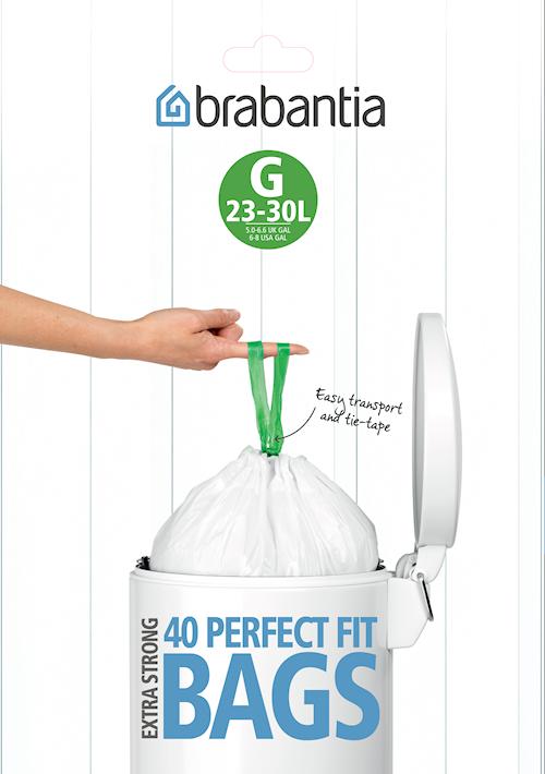 Affaldsposer H, 40/50/60Ltr [Dispenser Pack med 30 poser] White