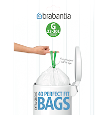 Rubbish bags H 40/50/60L [Dispenser Pack with 30 bags] White