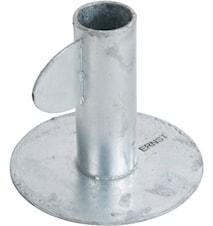 kynttilänjalka h 9 cm Sinkitty