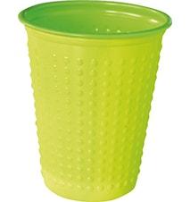 Plastbägare Colorix 20 cl Grön 40-pack
