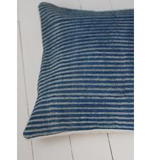 Pudebetræk Indigo Stripe Blå/Hvid stribet 50x50 cm