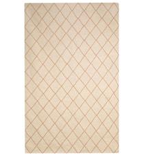 Diamond Dhurry Matta Ull Off white/Orange 230x336 cm