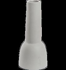 Ljusstake stengods, h16 cm, grå
