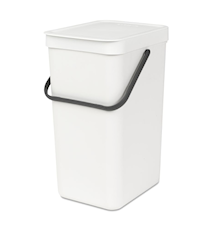 "Waste bin ""SORT & GO"" 16L White"