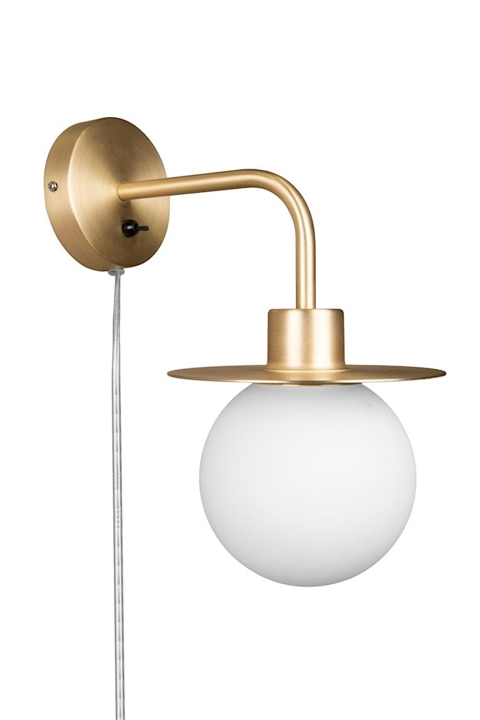 Vägglampa Art Deco med arm Borstad Mässing