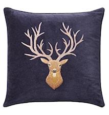 Reindeer Kudde Sammet Navy 50x50 cm