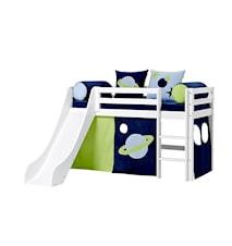 Basic slide loftsäng – Space sängpaket