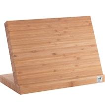 Knivblokk, bambus - magnet. 15x30x18,5cm