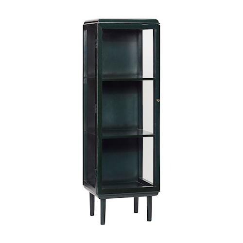 Vitrineskap 50x50xh160 cm - Grønn/Messing