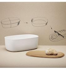 Brödkorg med skärbräda