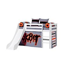 Basic slide loftsäng – Skater sängpaket