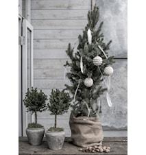 LW shell tree balls dekorationskugler 6-pak