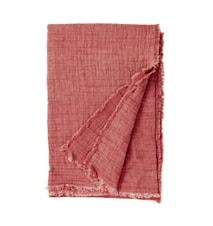 Cotton shawl, dark rose