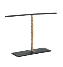 Hand forged jewellery stand w/ cane