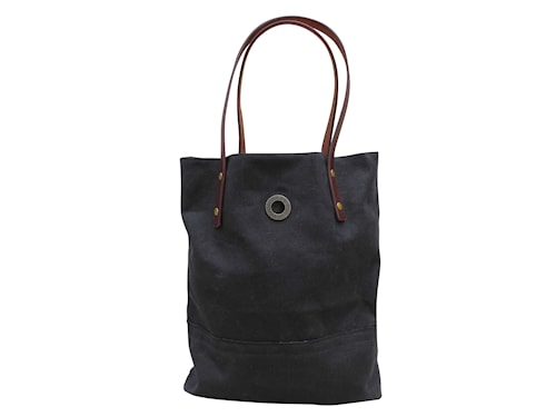 HIPSTERBAG vaxad canvas, Black