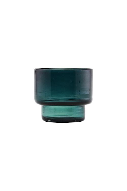 Lysestake Mute Ø 10x9 cm - Blå/grønn