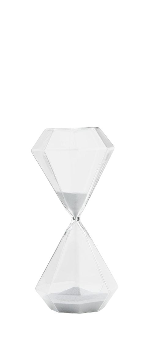 Timeglass Ø 13 cm - Sølv