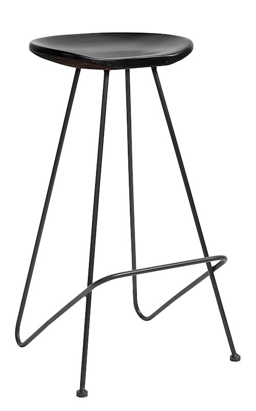 Barstol i trä 72 cm - Svart