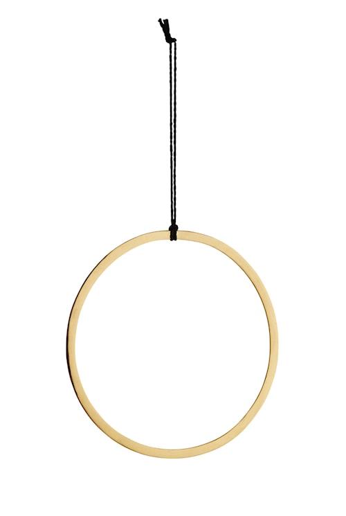 Hengende ring Ø 28 cm - Gull
