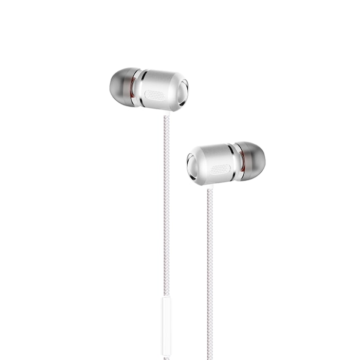 Kuulokkeet In-Ear Valkoinen Metallic