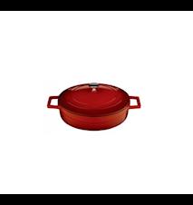 Gryta Låg Röd 24 cm 2,4 L